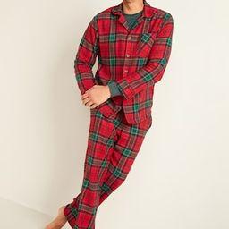 Plaid Flannel Pajama Set for Men | Old Navy (US)