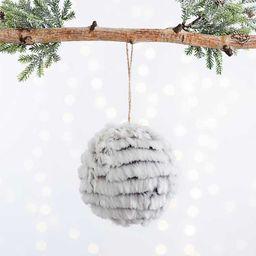 Gray Faux Fur Ball Ornament   Kirkland's Home