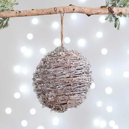 New!Frosted Twig Ball Ornament   Kirkland's Home
