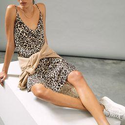 Printed Bias Slip Dress | Anthropologie (US)