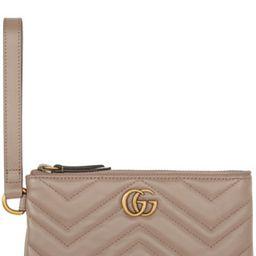 Pink GG Marmont Wallet | SSENSE