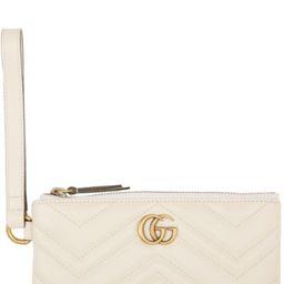 White GG Marmont Wallet | SSENSE