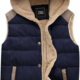 ZSHOW Women's Outwear Casual Thicken Qulited Hooded Vest Padded Fleece Jacket | Amazon (US)