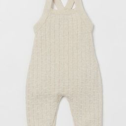 Pattern-knit Overalls   H&M (US)