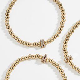Pavé Initial Pisa Bracelet | BaubleBar (US)
