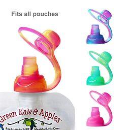 ChooMee SoftSip Food Pouch Tops | 4 CT | Swirl Colors | Amazon (US)
