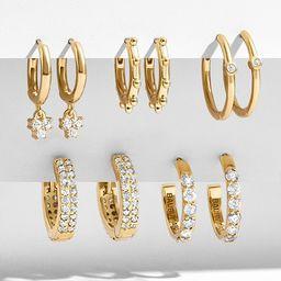 Liza 18K Gold Vermeil Huggie Hoop Earring Kit ($210 Value) | BaubleBar (US)
