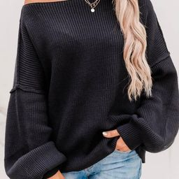 Our Best Years Black Sweater | The Pink Lily Boutique
