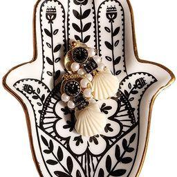 PUDDING CABIN Trinket Dish Hamsa Ring Dish Holder Small Jewelry Tray Decorative Plate   Amazon (US)
