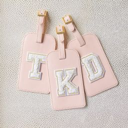Chenille Monogram Blush Personalized Luggage Tag  | Etsy | Etsy (US)