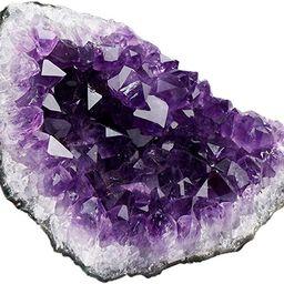 SUNYIK Natural Amethyst Quartz Crystal Cluster,Druzy Geode Specimen Gemstone Sculpture Sphere(0.2...   Amazon (US)