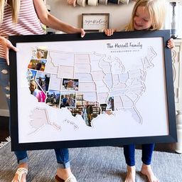 Personalized USA Photo Map  50 States Travel Map Gift | Etsy | Etsy (US)