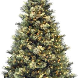 National Tree Company 'Feel Real' Pre-lit Artificial Christmas Tree | Includes Pre-strung White L... | Amazon (US)