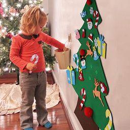 Aytai DIY Felt Christmas Tree Set with Ornaments for Kids, Xmas Gifts, New Year Door Wall Hanging... | Amazon (US)