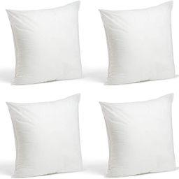 Foamily Set of 4-18 x 18 Premium Hypoallergenic Stuffer Pillow Inserts Sham Square Form Polyester... | Amazon (US)