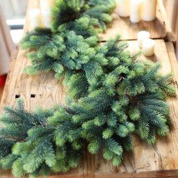 PARTY JOY Seasonal Artificial Christmas Garland Pine Cypress Greenery Garland Holiday Outdoor Win... | Amazon (US)