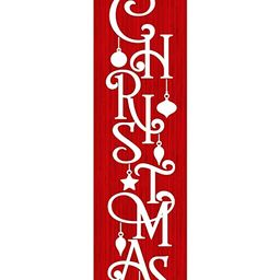 24 Inch Red and White Merry Christmas Vertical Wood Print Sign | Amazon (US)