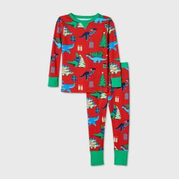 Toddler Holiday Dinosaur Print Matching Family Pajama Set - Wondershop™ Red | Target