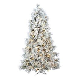7.5ft Pre-Lit LED Flocked Arctic Pine Artificial Christmas Tree   Pottery Barn (US)