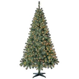Holiday Time Pre-Lit Madison Pine Artificial Christmas Tree, 6.5', Mini Clear Lights   Walmart (US)