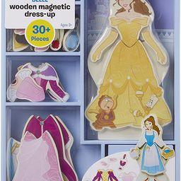 Melissa & Doug Disney Belle Magnetic Dress-Up Wooden Doll Pretend Play Set (30+ Pieces) | Amazon (US)