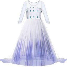 Princess Dress up Costume - Girls Ice 2 Halloween Birthday Party Cosplay Outfit for Little Child ... | Amazon (US)