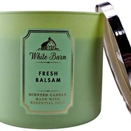 White Barn Bath and Body Works Fresh Balsam 3 Wick Scented Candle 14.5 Ounce | Amazon (US)