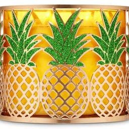 Bath and Body Works White Barn Pineapple Candle Holder Sleeve Low Profile | Amazon (US)