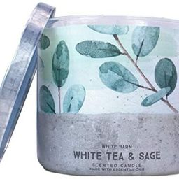 White Barn Bath and Body Works 3 Wick Scented Candle White Tea and Sage 14.5 Ounce | Amazon (US)