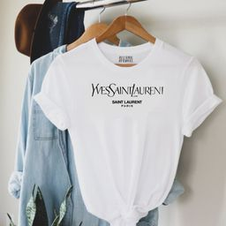 DESIGNER Inspired T-Shirt Cropped Comfort Fashion Design Multiple Color Options Glam Handmade Shi...   Etsy (US)