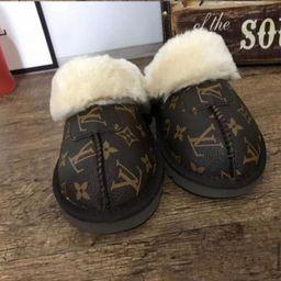 Slippers Designer Inspiert L V Winter Slippers   Etsy (US)
