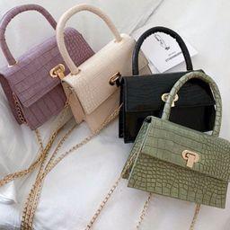 Mini crocodile purse, vegan leather | Etsy (US)