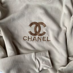 C h a n e l Inspired Embroidered Crewneck | Etsy (US)