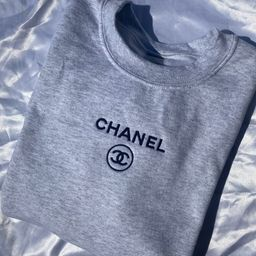Ash  C h a n e l Inspired Embroidered Crewneck | Etsy (US)