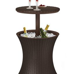 Keter Pacific Cool Bar Outdoor Patio Furniture 7.3 kg , Brown   Amazon (US)
