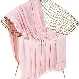 LEEVAN Luxury Super Soft Throw Blanket Lightweight Cozy & Warm Acrylic Blanket with Decorative Ta... | Amazon (US)