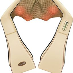 Naipo Neck and Shoulder Shiatsu Kneading Massager with Heat - Deep Tissue 3D electric Massage Pil... | Amazon (US)