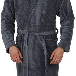 Regency New York Luxurious Men's & Womens Hooded Robe & Shawl Collar Soft Fleece Bathrobe Spa Rob... | Amazon (US)