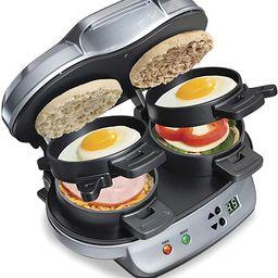 Hamilton Beach Dual Breakfast Sandwich Maker with Timer, Silver (25490A) | Amazon (US)