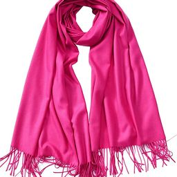 Cindy & Wendy Large Soft Cashmere Silky Pashmina Solid Shawl Wrap Scarf for Women | Amazon (US)