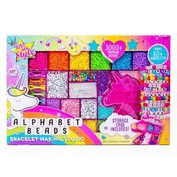 Just My Style Alphabet Beads Bracelet Making Studio with Unicorn Storage Case, Over 3000 Beads, M... | Walmart (US)