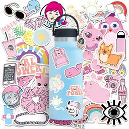 Botocar Pink 150 Pcs Cute Water Bottle Stickers, VSCO Stickers for Hydro Flask, Waterproof Vinyl ...   Amazon (US)