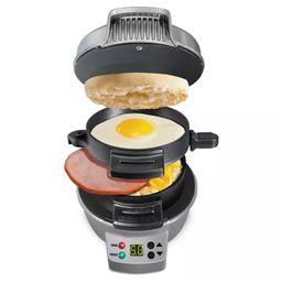 Hamilton Beach Breakfast Sandwich Maker with Timer - Dark Gray 25478 | Target