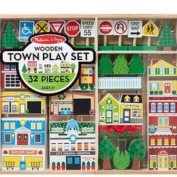 Melissa & Doug Wooden Town Play Set | QVC