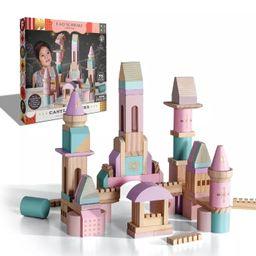 FAO Schwarz Castle Block Set- Pink, Purple, Glitter - 75pc | Target
