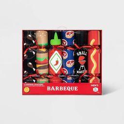 Men's Holiday Cracker BBQ Casual Socks - Red 10-13 | Target