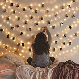 Vont Starry Fairy Lights, String Lights, 66FT, 200 LEDs, Bedroom Decor, Wall Decor, USB Powered, ... | Amazon (US)