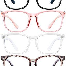 ENSARJOE Blue Light Blocking Glasses Square Nerd Eyeglasses Frame Anti Blue Ray Computer Game Gla... | Amazon (US)