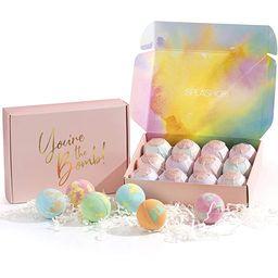 SPLASHOO Bath Bomb Gift Set for Women - 'You're the Bomb' Set of 12 Scented Bath Bombs - Gift for... | Amazon (US)