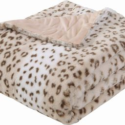 Sedona House Faux Fur Cheetah Print Throw Blanket - Super Soft Fuzzy Faux Fur Cozy Warm Fluffy Be... | Amazon (US)